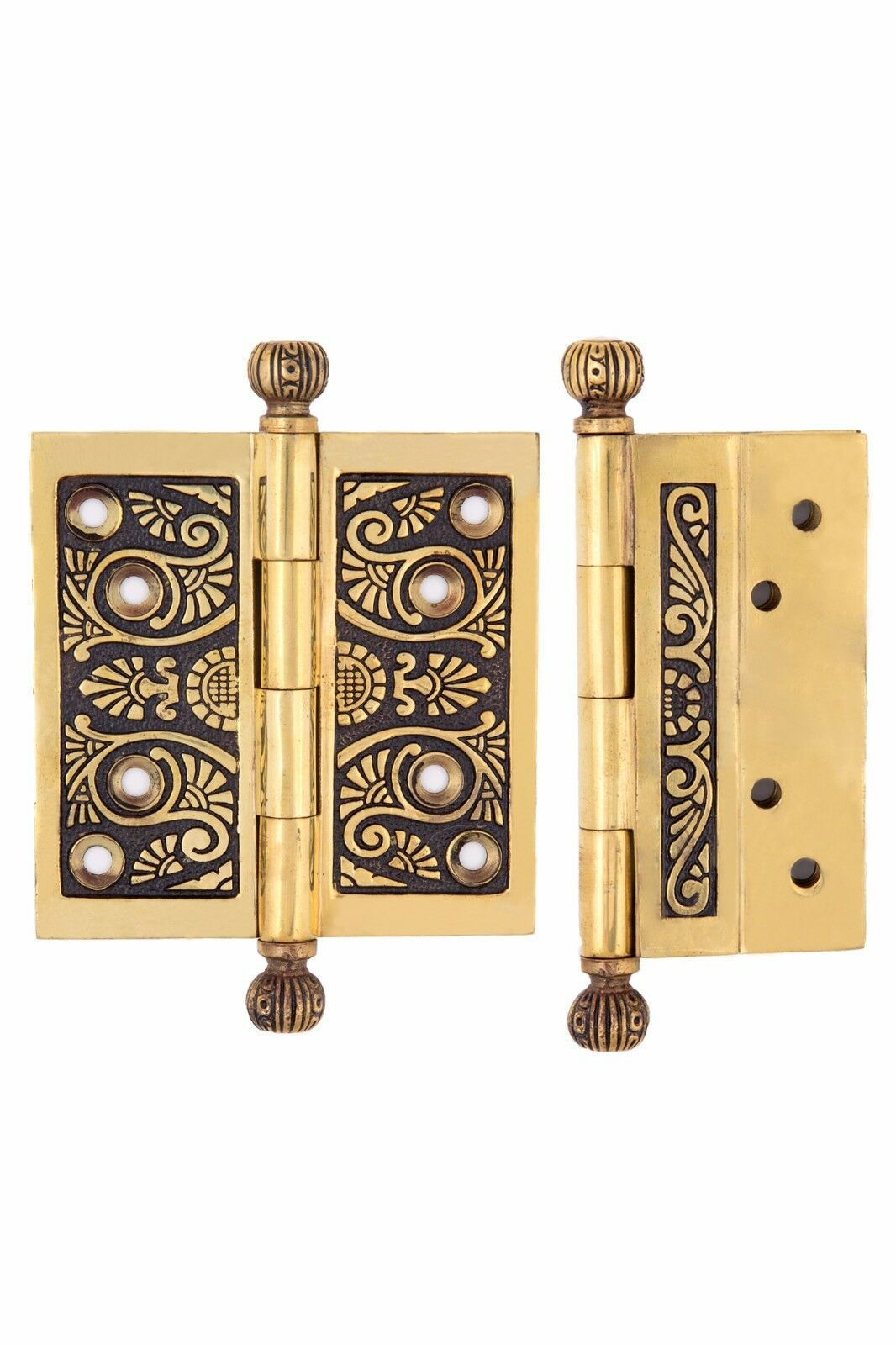 Palmette 4 x 4 decorative Hinges