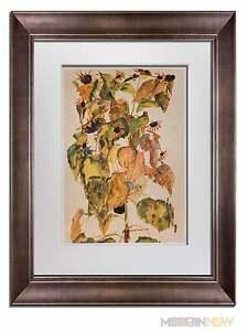 "FRAMED Egon SCHIELE Lithograph SIGNED #'ed Ltd Ed.100 ""Sunflowers"" 1911 +FRAMING"