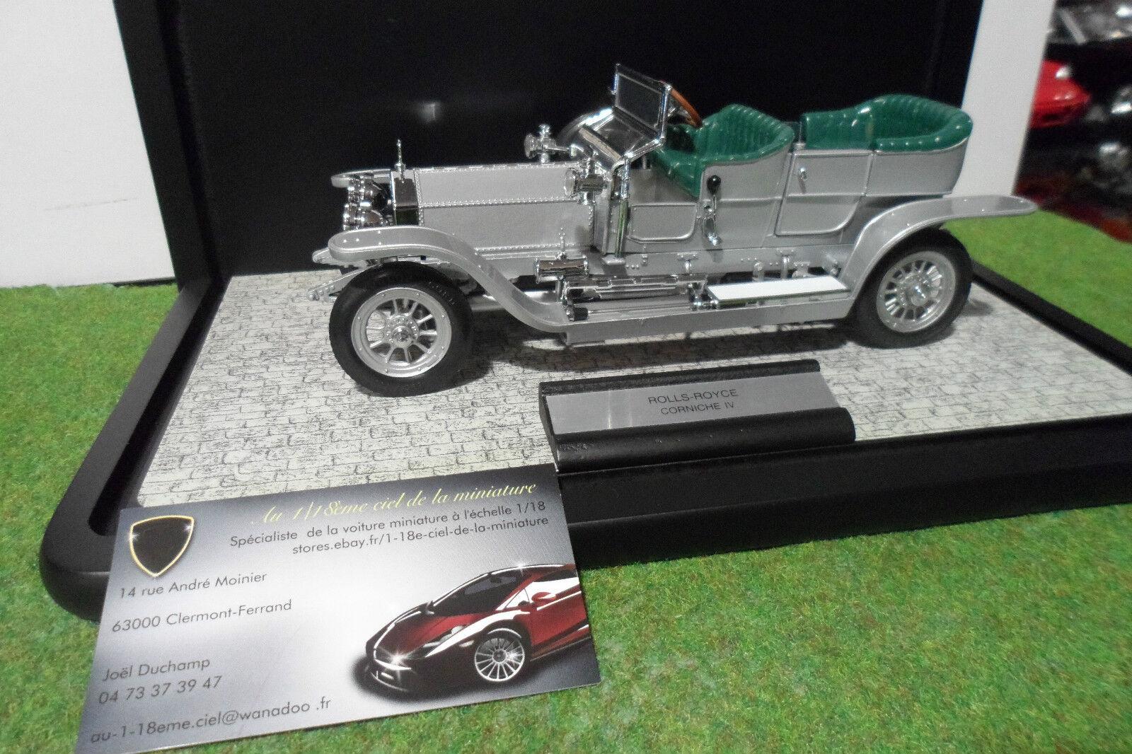 Tu satisfacción es nuestro objetivo ROLLS ROYCE  plata GHOST 1907 + vitrine au 1 1 1 24 FRANKLIN MINT voiture miniature  venta al por mayor barato