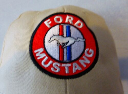 shelby bullitt 289 260 v8 fastback gt cobra ghia Casquette beige FORD MUSTANG
