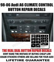 Audi A6 Climate Control Button Restore Decals Stickers Overlays 98-06