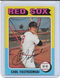 1975-Topps-Carl-Yastrzemski-Boston-Red-Sox-280-HOF-CLEAN-HIGH-GRADE
