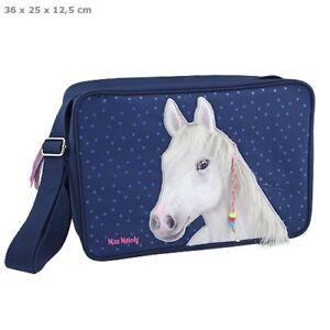 Depesche MISS MELODY HORSE Shoulder MESSENGER BAG Mauve Purple SEQUIN A4