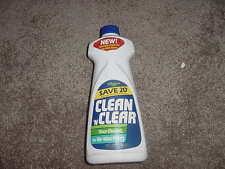VINTAGE 1982 JOHNSON WAX CLEAN N CLEAR LIQUID PLASTIC BOTTLE 28 oz FLOOR CLEANER