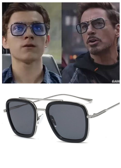 Spider-Man Far From Home Tony Iron Man Sunglasses Peter Spider Man Edith Glasses