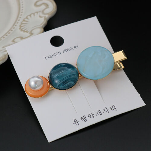 Women Pearl Hair Clips Astronomical Sphere Hairpin Sweet Girl Barrettes Hairgrip
