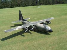 Lockheed C-130 Hercules scratch build Control Line Plane Plans 64 in. wing span