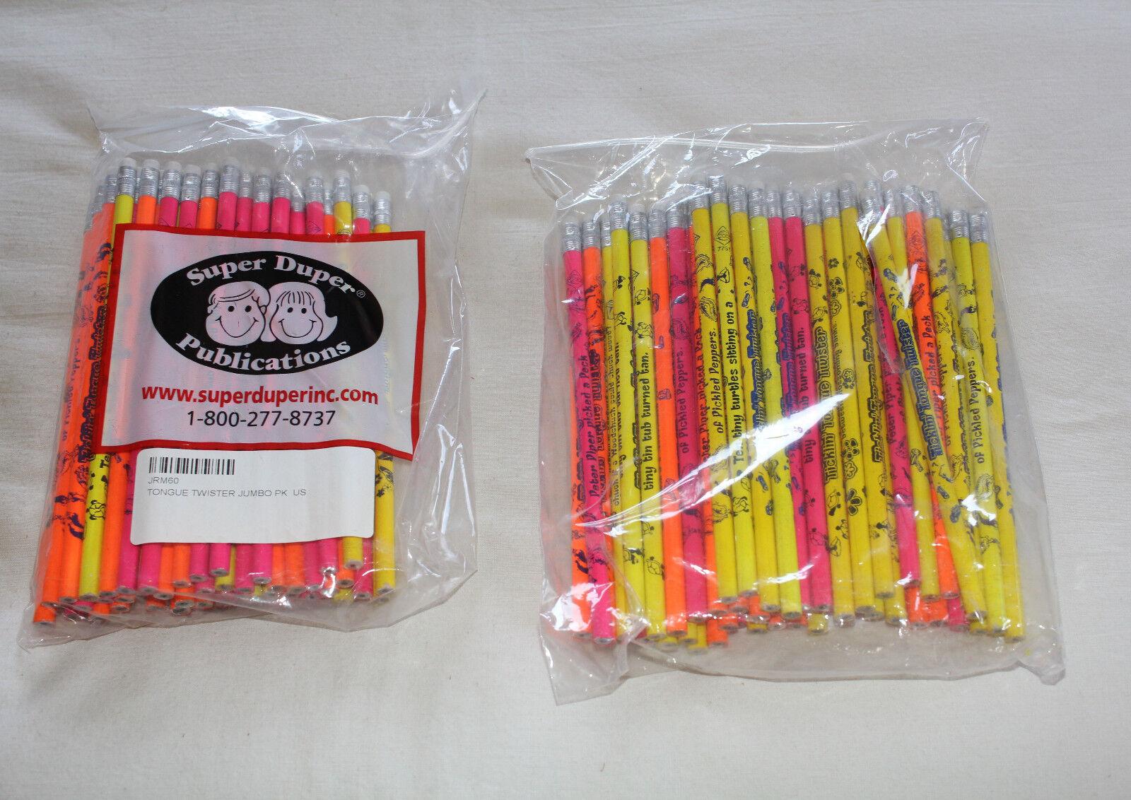 Super Duper Publications Bulk Lot 120 Tongue Twister Pencils