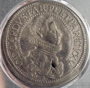 1636-Italy-Piacenza-Odoardo-Farnese-Large-Silver-Scudo-Coin-PCGS-VF
