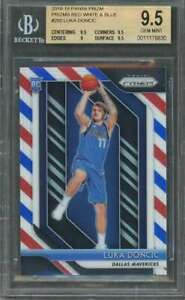 Luka-Doncic-Rc-2018-19-Panini-Prizms-Red-White-Blue-280-BGS-9-5-9-5-9-5-9-9-5