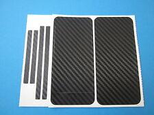 iPhone 5 schwarz Carbon Folie Set Aufkleber Schutzfolie Fiber Skin Sticker
