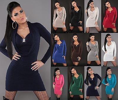 # Sexy Miniabito Maglione Abito A Maglia Maglione Pullover Sweater Strass #-mostra Il Titolo Originale