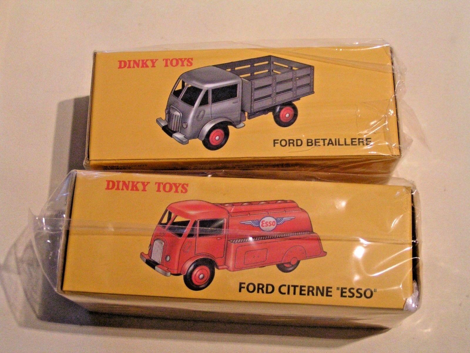 DINKY TOYS (ATLAS) 1 43  -  LOT DE 2 CAMIONS FORD  (EN BOÎTES SCELLEES)