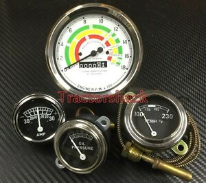 fordson major early e1a tractor gauge set tacho oil water Tractor Axle Shafts image is loading fordson major early e1a tractor gauge set tacho