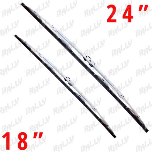 "18/"" white metal all season windshield wiper blades 2 pcs 440w+434w 24/"""