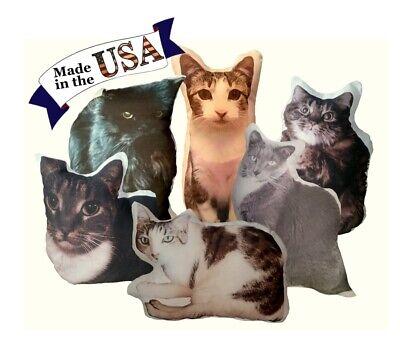 fb05a305a5e4 Details about Custom Cat Photo Pillow, Personalized Cat Portrait Pillow, Cat  Lover Gift