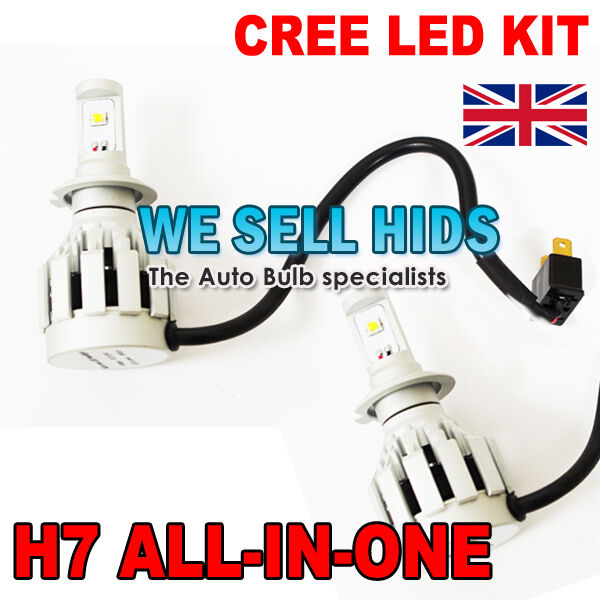 H7 ALL IN ONE HIGH POWERED CREE LED KIT HEADLIGHT FOGLIGHT BULBS BRIGHT 2000LM