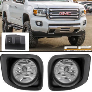 Cool For 2015 2018 Gmc Canyon Clear Lens Fog Light Full Complete Kit Wiring Cloud Hisonuggs Outletorg