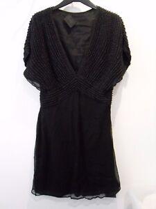 Ladies-BNWOT-Gestuz-Beaded-Black-Dress-Size-12-M