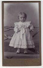 Esslingen, Mädchen mit weissem Kleid Girl Fashion style Kabinettfoto um 1900