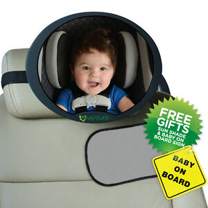 GREY-LARGE-ADJUSTABLE-VIEW-REAR-BABY-CHILD-SEAT-CAR-SAFETY-MIRROR-HEADREST-MOUNT