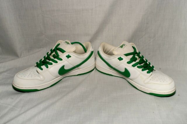 "quality design 205fb 6c873 Sz12 Nike SB Dunk Low Pro ""St. Patrick's Day"" White /Classic Green 304292  133"