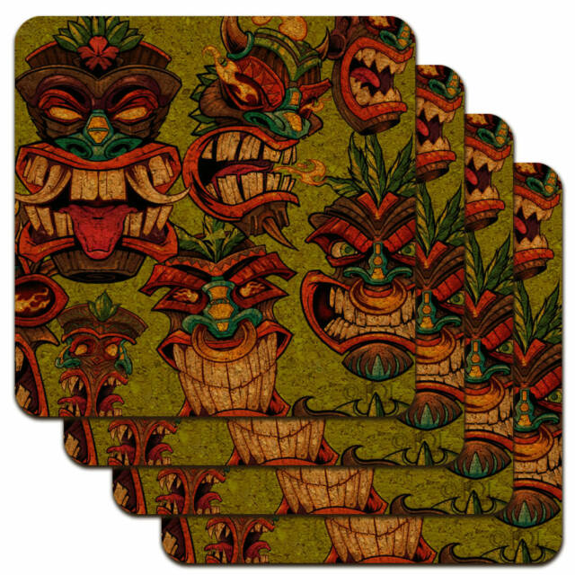 Dragon Parchment Fantasy Low Profile Novelty Cork Coaster Set