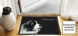 61cmx40-6cm-CHIEN-SAINT-BERNARD-design-noir-brouillon-DESSIN-Porte-d-039-entree