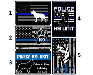 8x12 METAL SIGN POLICE #9 Officer Cop Law Enforcement Blue