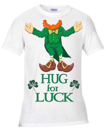 St Patrick/'s Day Leprechaun Hug for luck t shirt Paddy/'s Day Funny Irish