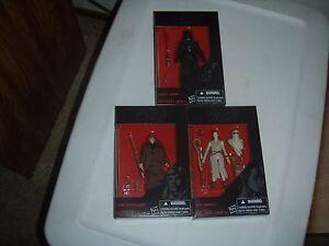 Star Wars Black Series 3 3/4 Inch Luke Skywalker, Darth Vader,  Rey J Figures