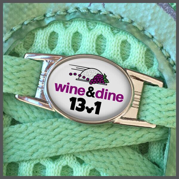 RunDisney Wine and Dine Half Marathon 13.1 Shoelace Shoe Charm or Zipper Pull