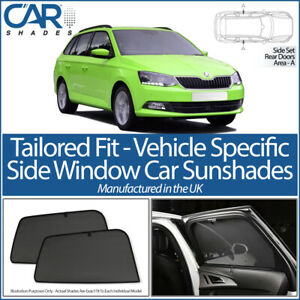 Car Window Sun Blinds Privacy UV Shades Skoda Superb Estate 2009 on