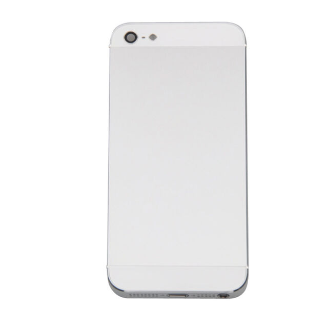 White Complete Housing Back  Cover & Mid Frame Assembly for iPhone 5 Repair