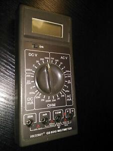 1988-Voltcraft-GS-6510-Multimeter-fuer-Sammler-Bastler-Batteriepol-defekt-GS6510