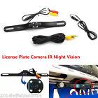 Car SUV Rear View Reverse Parking License Plate 4LED IR Night Vision Camera CMOS