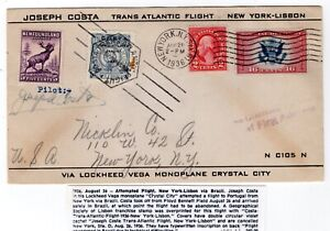 CE2-on-Trans-Oceanic-Flight-1936-Joseph-Costa-Atlantic-NY-Lisbon-Autographed