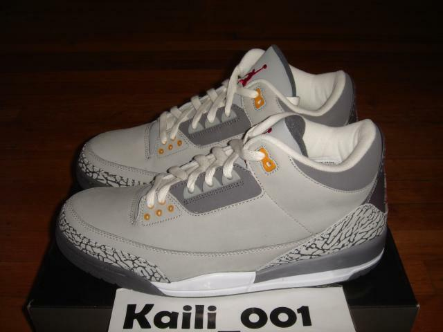 Nike Air Jordan 3 LS Size 11.5 Cool Grey 315297-062 DB B