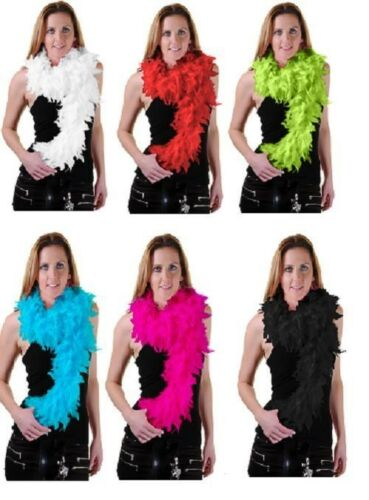FEATHER BOA HEN NIGHT PARTY FANCY DRESS ACCESSORY GATSBY 20S FLUFFY BURLESQUE