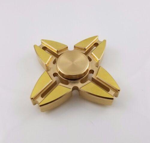 Tri Hand Spinner Triangle Torqbar Brass Finger Toy EDC Focus ADHD Autism