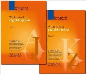 WIELKI-SLOWNIK-ANGIELSKO-POLSKI-TOM-1-i-2-Wiedza-Powszechna-180000-hasel-JBook