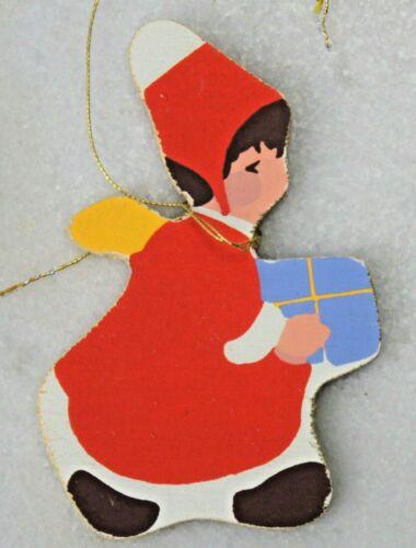 Weihnachtsbaumanhänger Christbaumanhänger Holz Engel Wichtel 60er 70er 60s 70s .
