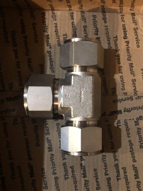 Swagelok SS-2400-3 Acero Inoxidable adaptador del tubo Unión Tee 1 1//2 en tubo OD