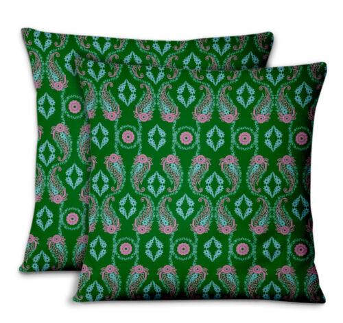 S4Sassy Paisley /& Home Decor Printed Fabric Cushion Cover 2Pcs-FL-697G