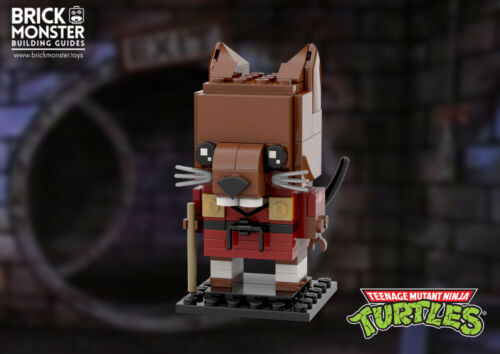 LEGO MOC Splinter Brickheadz Ninja Turtles CUSTOM Model PDF Instructions ONLY