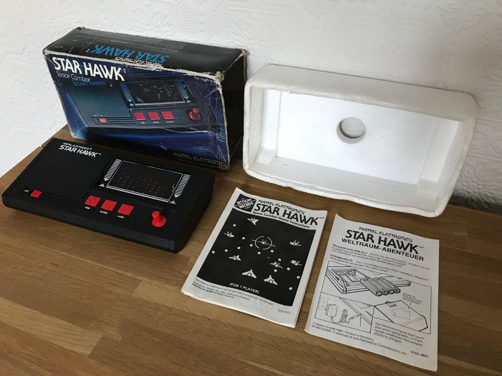 precios ultra bajos Ultra Raro Mattel Estrella Hawk Hawk Hawk Vintage 1981 de mano juego electrónico -  como NUEVO  COND.  la red entera más baja