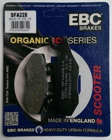 2011 to 2016 KSR Zion 125 // 150 SFA228 EBC Organic REAR Disc Brake Pads
