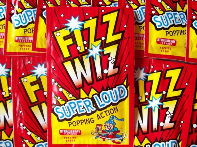 80s Party Table Decorations -  10/20/30/40/50 Packets of Popping Candy Fizz Wiz