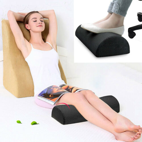 Home Office Footrest Desk Travel Leg Foot Rest Cushion Pillow Foam Relax Car