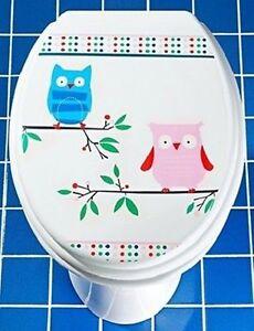 Aufkleber Für Toilettendeckel : 2 st ck toilettendeckel aufkleber folie eule bad wc deckel ~ Watch28wear.com Haus und Dekorationen
